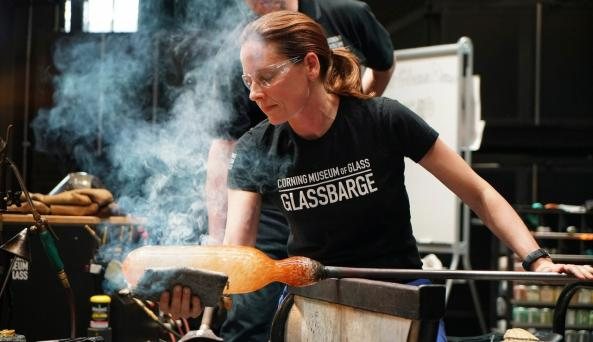 Hot Glass Show in Amphitheater