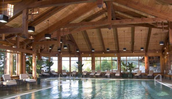 Indoor Heated Pool at the Spa at Mohonk Mountain House: Photography by Jim Smith