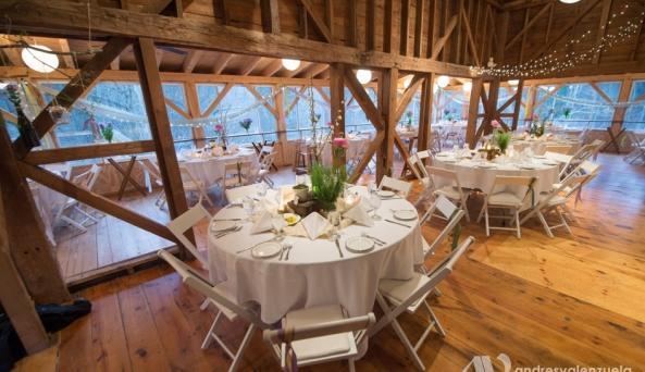 Inside the Barn at Full Moon Resort