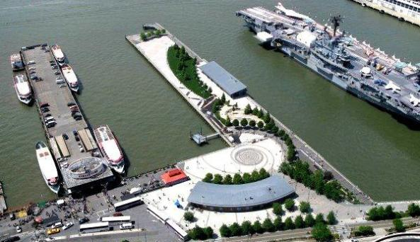 Aerial View of Pier 84 Boathouse