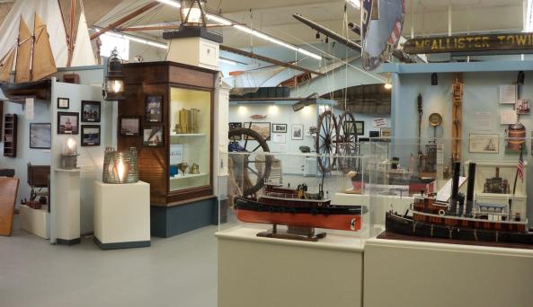 Looking Across the East Gallery at the Hudson River Maritime Museum