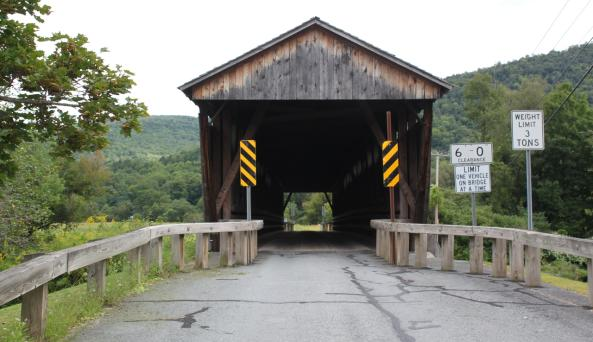 Downsville Covered Bridge entry