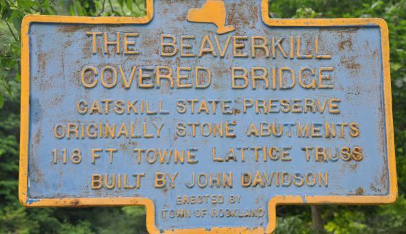 Beaverkillk Covered Bridge Sign