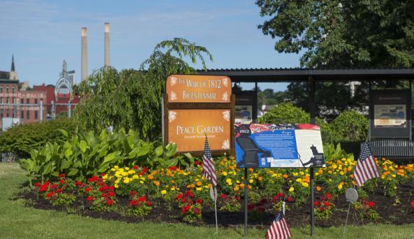 War of 1812 Peace Garden trail Photo Courtesy of Peace Garden