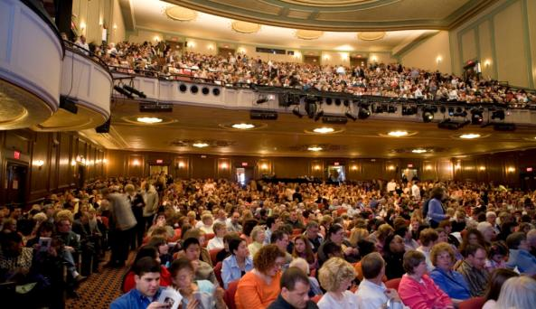 Crowd cheers at Rochester Broadway Theatre League's Auditorium