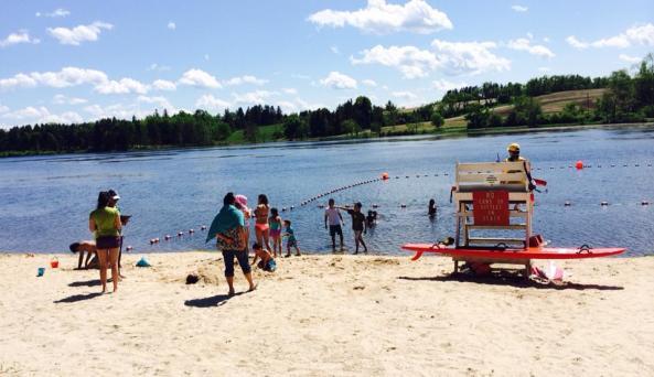 Rudd Pond - beach