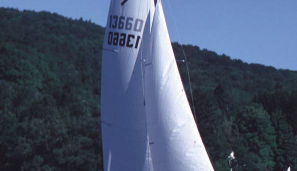 Sailing at Cuba Lake