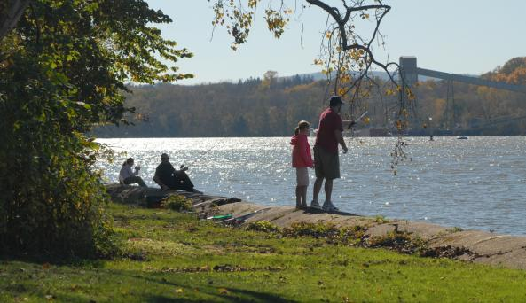 Fishing at Schodack Island State Park