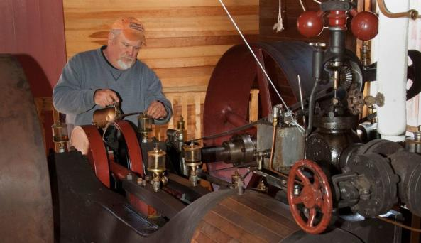 Hanford Mills Museum is one of the few places in the country that demonstrates steam power.