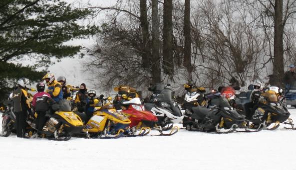 Snowmobile Long Lake