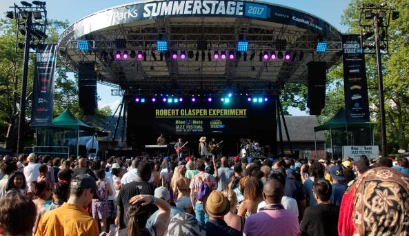 SummerStage in Central Park ft. The Robert Glasper Experiment - June 2017 - Photo by Eliana Rowe