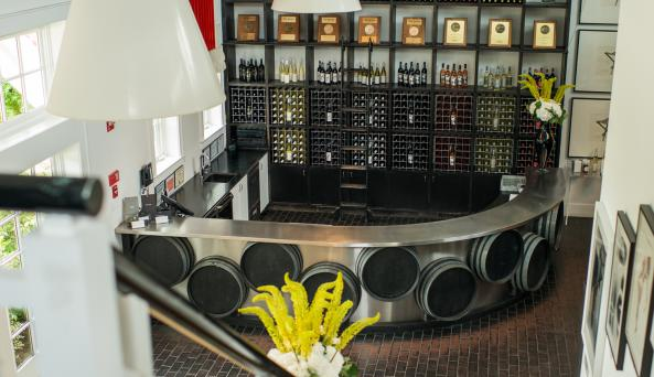 Inside the Tasting Room at Bedell Cellars