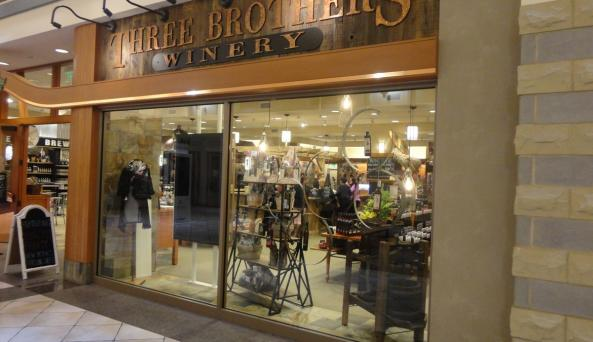 Entrance to the Three Brothers Winery tasting room at Eastview Mall