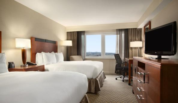 Hilton New York JFK Airport Double Queen Bed Standard Room