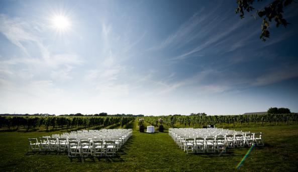Wedding Set Up at Bedell Cellars