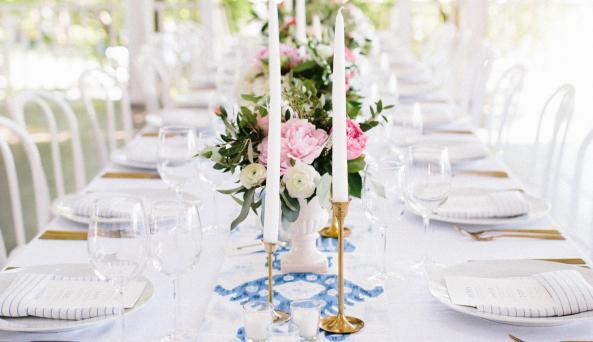 Gold Flatware - Wedding at Bedell Cellars