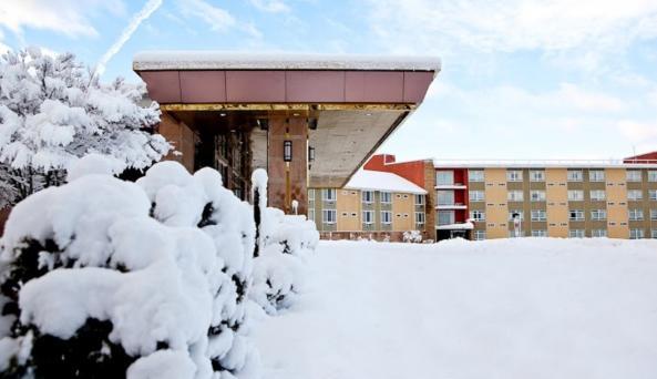 Main Entrance During the Winter Season