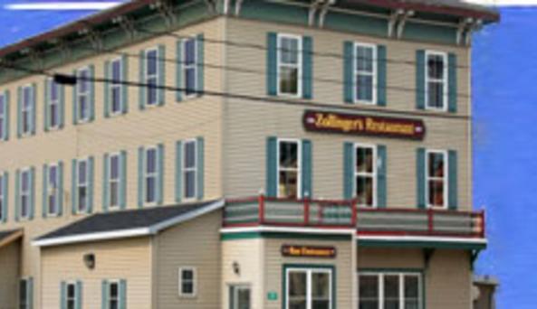 Zollinger's South Dayton Hotel  front of restaurant