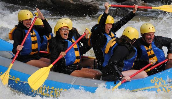 Class II-IV+ rapids on the Black River