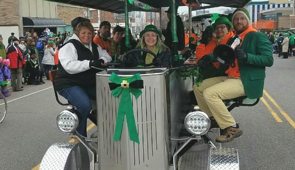 Buffalo Pedal Tours- Saint Patricks Day parade