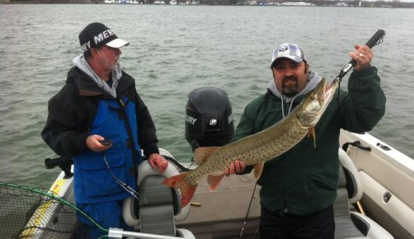 Steve with his first musky