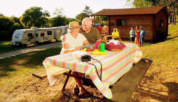 cheerful-valley-campground-phelps-people-picnic-table
