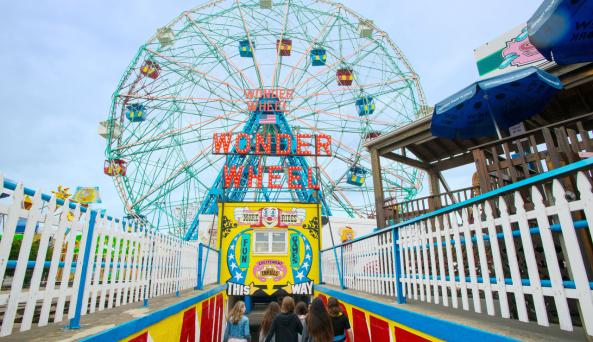Deno's Wonder Wheel Park - Photo by Julienne Schaer - Courtesy of NYC & CO