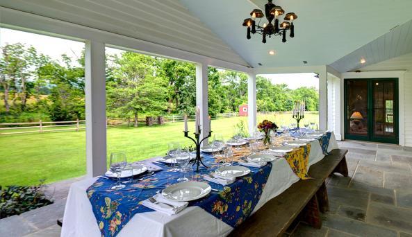 Enjoy dining al fresca on the porch