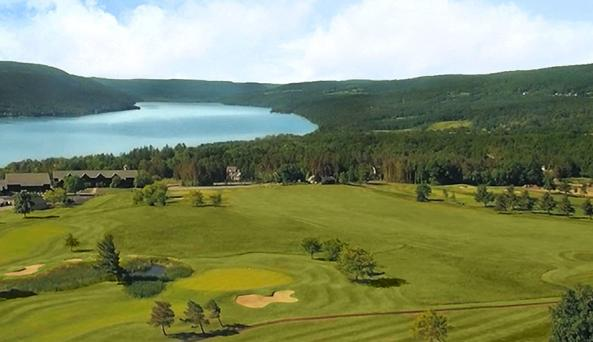 Arial View of Bristol Harbour Lodge & Golf Club on Canandaigua Lake