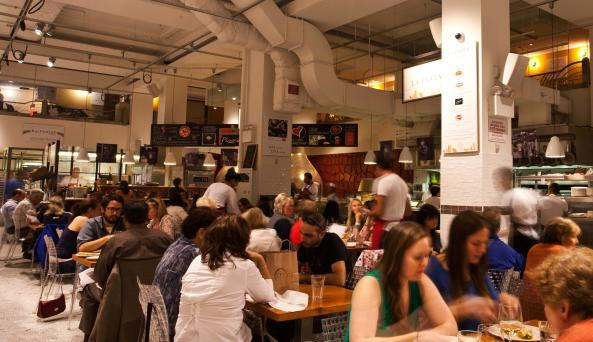 interior of La Pizza & La Pasta inside eataly