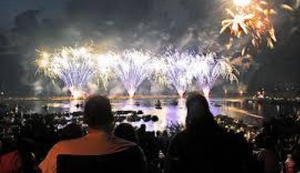 fireworks at marina