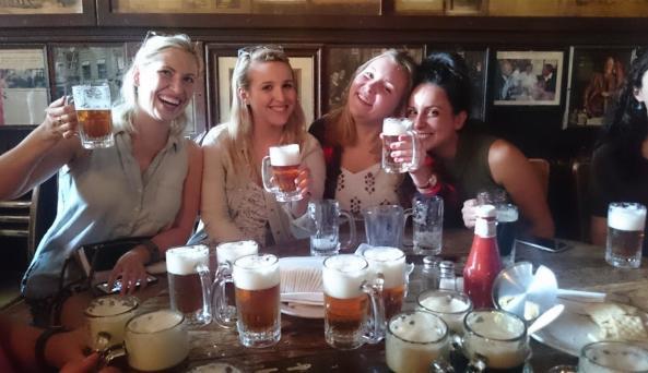 Beer tasting at NYC's oldest bar! *Photo Credit: Gina Ginsberg