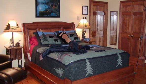 Master Bedroom at Cooperstown Lakeview B&B