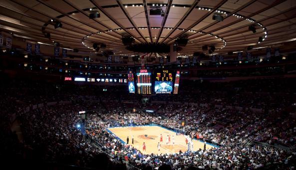 Interior of Madison Square Garden