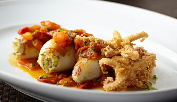 Molyvos Restaurant, stuffed calamari
