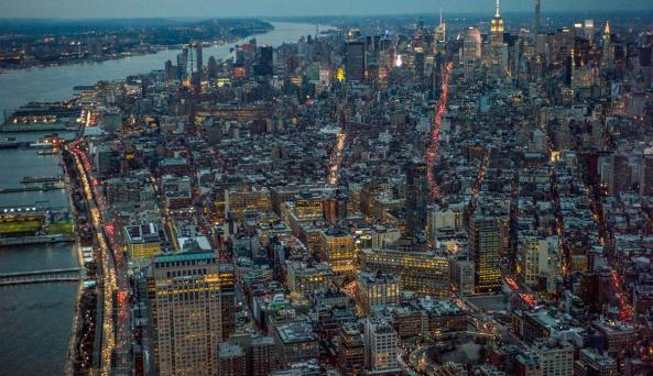 One World Observatory - dusk view