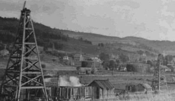 Oil fields in Bolivar of the past