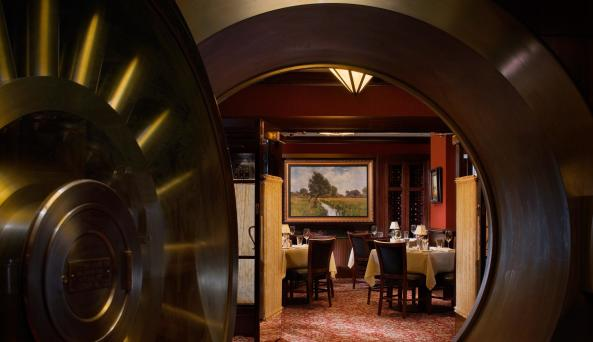 Capital Grille Wall Street, interior vault