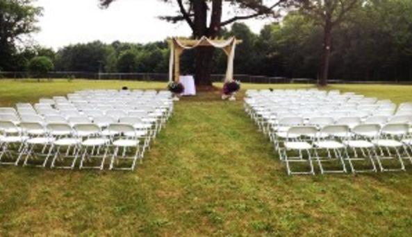 Outdoor wedding site