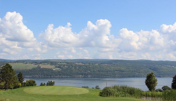 Beautiful golf course overlooking Seneca Lake