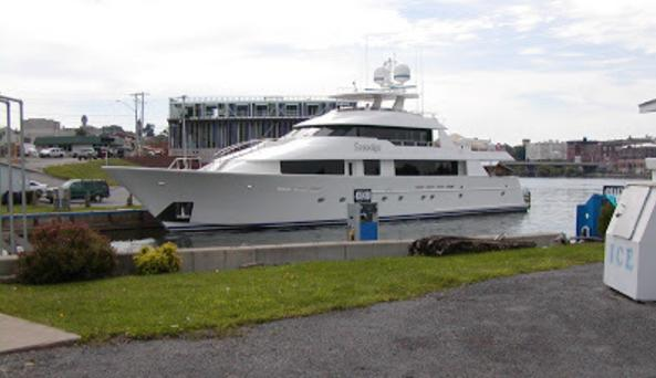 yacht at east terminal