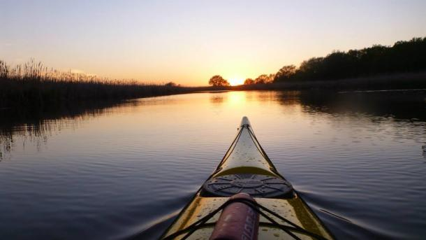 Kayaking in Haldimand during sunset