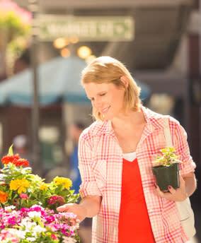 Woman Flower Shopping - Quick Trip