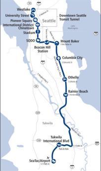 Seattle Transportation Solutions Light Rail Map