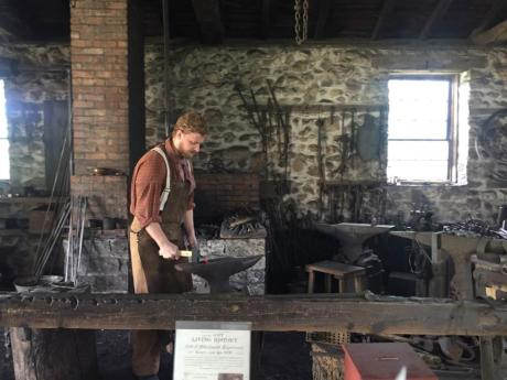 Blacksmith at Genesee Country Village & Museum