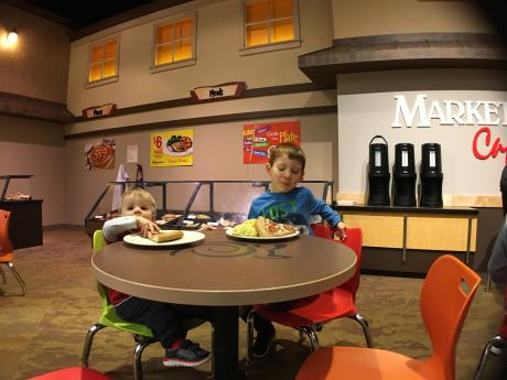 Boys playing at the National Museum of Play