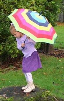 Rainy Day Umbrella Play
