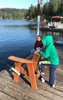 Mercer Lake Fishing by Taj Morgan