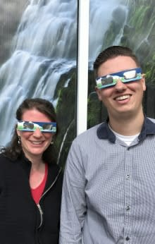 Modeling Solar Eclipse Safety Glasses by Taj Morgan