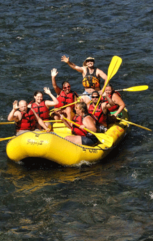 Rafting McKenzie River with TnT